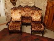 Neoreneszánsz 3 darabos ülőgarnitúra