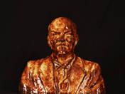 Zsolnay pirogránit Lenin büszt