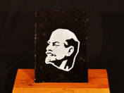 Asztali dísz Lenin portréval