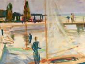Vitorlás a füredi mólónál (1960)