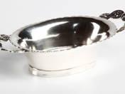 Pesti antik ezüst kínálótálka