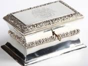 Bécsi antik ezüst cukordoboz