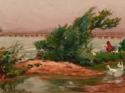 Balatonpart libákkal