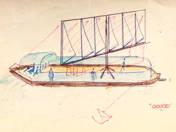 100 személyes vitorlás terve, 1960 körül