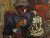 Szobrásznő (Vidéky Brigitta)