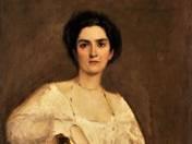 Fehér ruhás nő