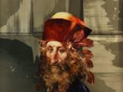 Férfi portré vörös fejfedővel