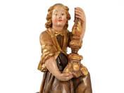 Barokk angyal oltárdísz gyertyatartóval