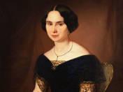 Kék ruhás hölgy portréja