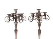 Bécsi ezüst kandeláberpár