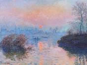 Claude Monet: Sunset on The Seine in Winter