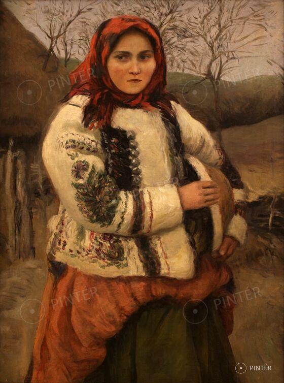Glatz Oszkár (1872-1958): Népviseletes lány (olaj, vászon, 81 x 60,5 cm, j.n.) Kikiáltási ár: 650.000 HUF