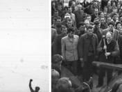 A Felszabadító szovjet katona szobrának ledöntése 1956-ban