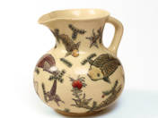 Zsolnay Jug with Fish Decoration