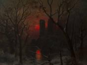 Romos vár naplementében