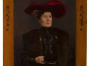 Kalapos női portré