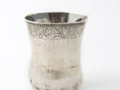 Esztergomi antik ezüst kerszetelőpohár