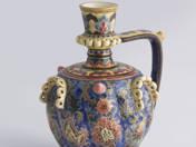Zsolnay korsó perzsavirág dekorral