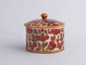 Zsolnay fedeles bonbonier cseresznye dekorral