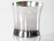 Esztergomi antik ezüst keresztelőpohár
