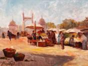 Piac a Ferenc József hídnál