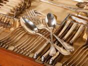 6 személyes ezüst étkészlet díszdobozban