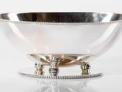 Pesti ezüst art-deco kínálótálka