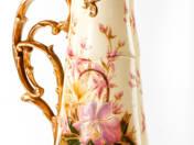 Zsolnay díszkancsó orchidea dekorral