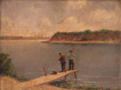 Horgászó gyerekek