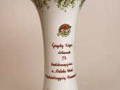 Hollóházi munkásőr váza