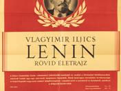V. I. Lenin rövid életrajz plakát