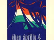 Éljen április 4 plakátterv