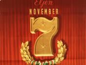Éljen November 7 plakát
