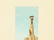 Szabadság szobor plakátterv