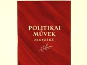 Politikai művek jegyzéke borítóterv