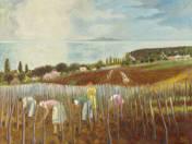Tavaszi munkák a badacsonyi szőlőben