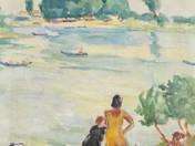 Lányok a vízparton