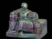 Zsolnay Anonymus szobor