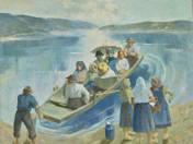 Társaság csónakban