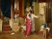 Festő és modellje