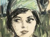 Magda (Molnár Magda, Heltai Sándorné portréja), 1920 (Keszthely)