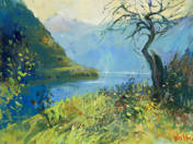 Hallstadt-i tó partján