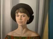 Kalapos lány portréja