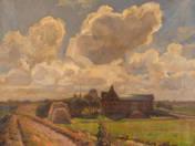 Felhős tájkép