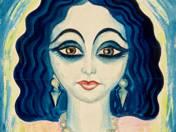 Art-deco női portré