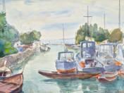 Siófok, zsilip és környéke, vízügyi kikötő