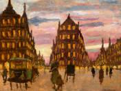Párizsi alkony omnibusszal