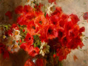 Virág csendélet pipacsokkal