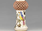 Herendi váza madár dekorral
