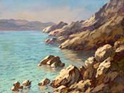 Sziklás tengerpart